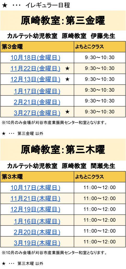 2019年度【カルテット幼児教室】